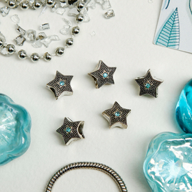 Талисман 'Звезда', цвет голубой в серебре Ош