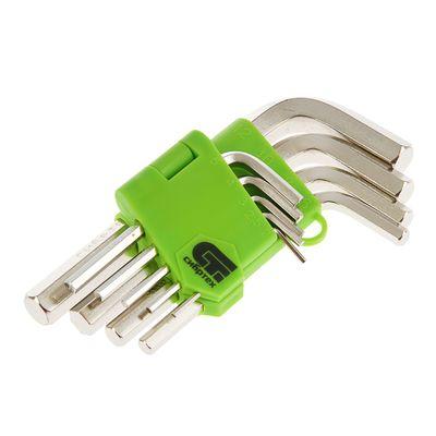 """Набор ключей имбусовых """"СИБРТЕХ"""", 2–12 мм, 45x, закаленные,  9 шт., короткие,"""