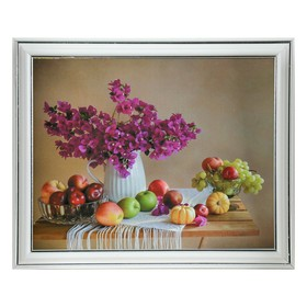 Картина 'Натюрморт. Кувшин с цветами' 26х21 см рамка микс Ош