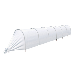 Парник прошитый, длина 6.5 м, 7 дуг из пластика, дуга L = 2 м, d = 20 мм, спанбонд 45 г/м², Reifenhäuser, «Агроном» Ош