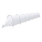 Парник прошитый «Агроном», длина 8.5 м, 9 дуг дуг из пластика, дуга L = 2 м, d = 20 мм, укрывной материал 45 г/м²