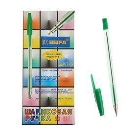 Ручка шариковая Beifa АА 927GR, металлический наконечник, стержень зеленый, узел 0.7мм