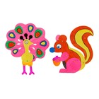 Раскраска-игрушка на шарнирах «Павлин и белочка»