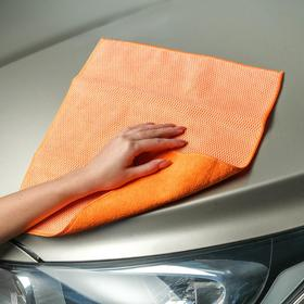Салфетка из микрофибры и коралловой ткани, оранжевая, 35х40 см