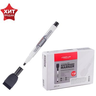 Маркер для доски 2.5 мм MiniMax-820 чёрный магнит и губка
