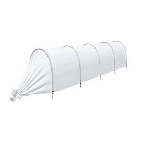 Парник прошитый, длина 4.5 м, 5 дуг из пластика, дуга L = 2 м, d = 20 мм, спанбонд 45 г/м², Reifenhäuser, «Агроном» Ош