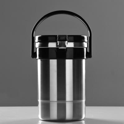 """Термос для еды """"Экспресс"""" 1с494, с широким горлом, 1.35 л (3 контейнера × 0.45 л), 74 °С, 6 ч 186120"""