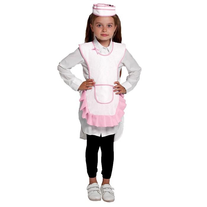 """Детский карнавальный костюм """"Девочка-продавец"""", пилотка, фартук, 4-6 лет, рост 110-122 см"""