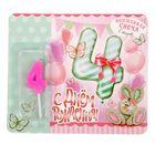 Свеча с открыткой для девочек