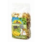 Лакомство JR FARM  для грызунов, кусочки банана, 150 г