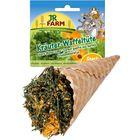 Лакомство JR FARM для грызунов, травы ассорти в вафельном рожке, 60 г