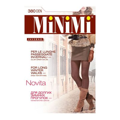 Колготки женские MiNiMi Novita, 380 den, размер 3, цвет cappuccino Melange
