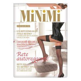 Чулки женские MiNiMi Rete Autoregразмер 1/2, цвет caramello