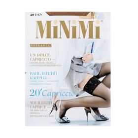 Чулки женские MiNiMi Capriccio, 20 den, размер 1/2, цвет daino