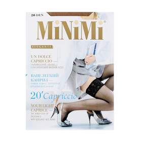 Чулки женские MiNiMi Capriccio, 20 den, размер 1/2, цвет bianco