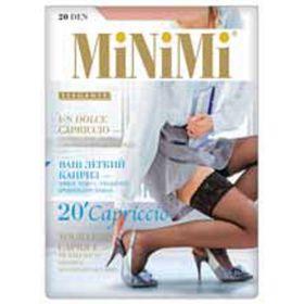 Чулки женские MiNiMi Capriccio, 20 den, размер 1/2, цвет rosso