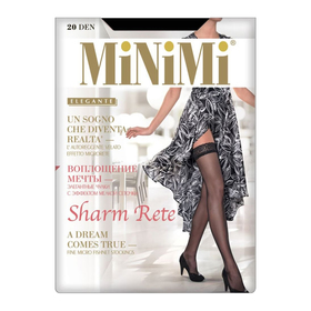 Чулки женские MiNiMi Sharm Rete Autoregразмер 3/4, цвет daino