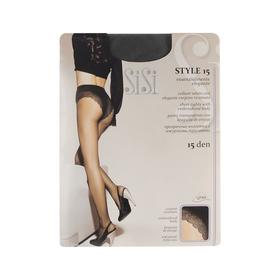 Колготки женские Sisi Style, 15 den, размер 2, цвет nero
