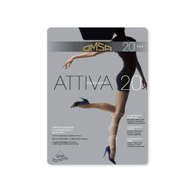 Колготки женские Omsa Attiva, 20 den, размер 3, цвет nero