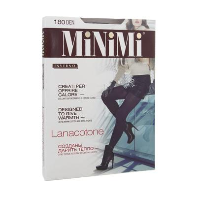 Колготки женские MiNiMi LanaCotone, 180 den, размер 3, цвет nero