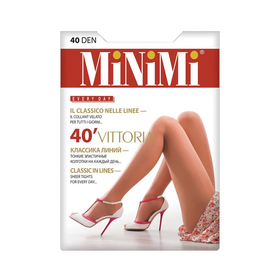Колготки женские MiNiMi Vittoria, 40 den, размер 5, цвет caramello
