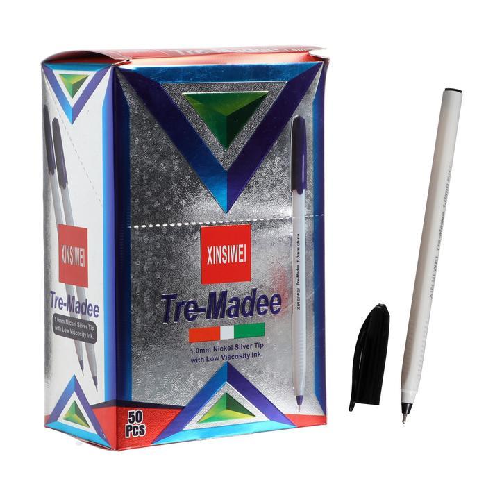 Ручка шариковая, 1.0 мм, корпус серый треугольный, стержень красный