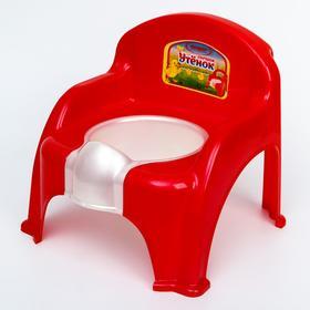 Горшок-стульчик «Утёнок», цвет красный