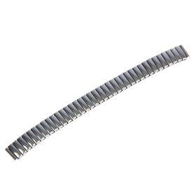 Ремешок для часов 12 мм, металл, протектор звенья объёмные, хром, 15 см Ош