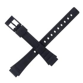 Ремешок для часов 12 мм, чёрный, 18 см Ош