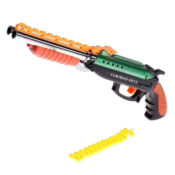 Ружьё пневматическое Двустволка, стреляет силиконовыми пулями, цвета МИКС
