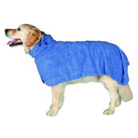 Полотенце-попона Trixie,  XS: 30 см, микрофибра, синий Ош
