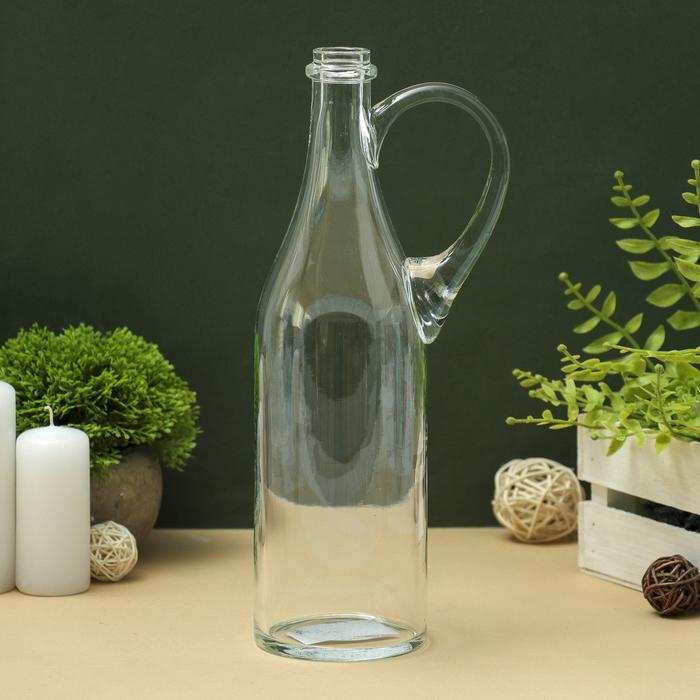 """Бутыль """"Литр"""" с ручкой, 8,5х31 см, 1 л., прозрачная"""