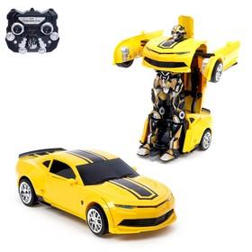 Робот радиоуправляемый «Автобот», трансформируется, работает от аккумулятора, заряд от USB