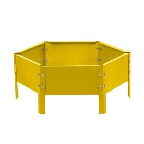Клумба оцинкованная, d = 60 см, h = 15 см, жёлтая, Greengo Ош