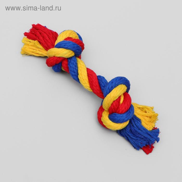 """Игрушка канатная """"Веревка"""", ф16, 2 узла, 20-22 см"""