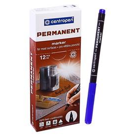 Маркер Centropen 2536 перманентный, 1.0 мм, синий, светостойкий