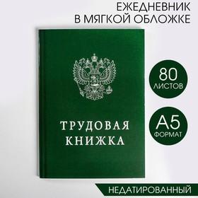 Ежедневник 'Трудовая книжка', А5, 80 листов Ош