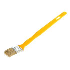 """Кисть радиаторная """"АКОР"""" Эксперт, 35х10 мм, ручка пластик, натуральная щетина"""