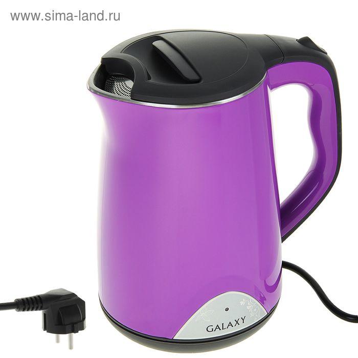 Чайник электрический Galaxy GL 0301, 2000 Вт, 1.5 л, металл, фиолетовый
