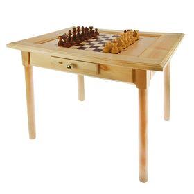 Шахматный стол с ящиком (80х69х76 см, игровое поле 36х36 см, король h=11.5 см) Ош