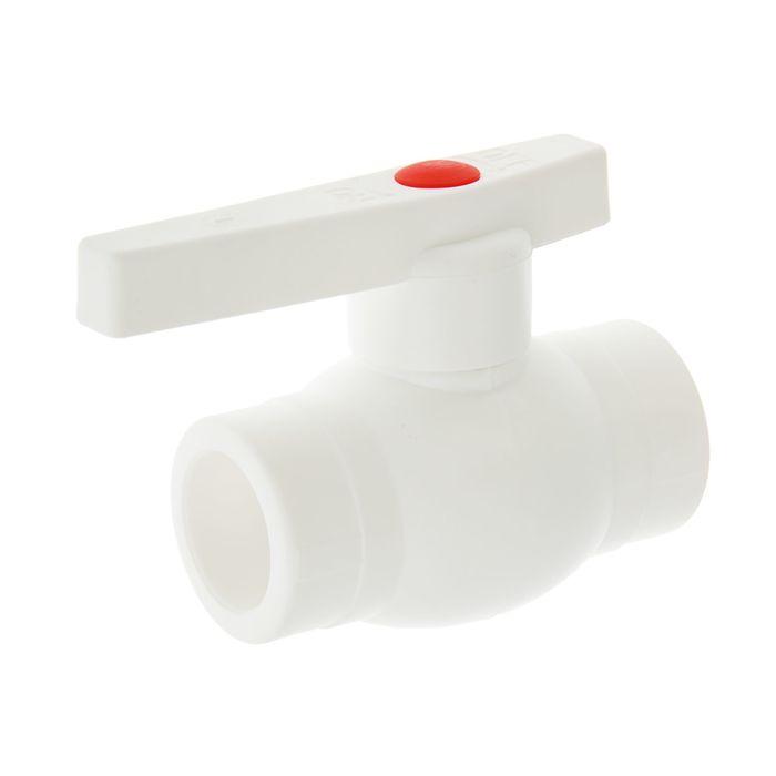 купить Кран VALFEX OPTIMA, полипропиленовый, со стальным омедненным шаром, d25 мм