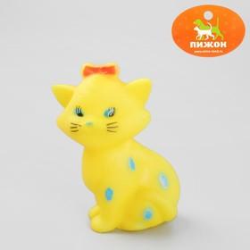 Игрушка пищащая 'Кошечка' для собак, 10 см, микс цветов Ош