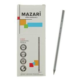 Карандаш чернографитный Mazari Syber, HB, пластиковый