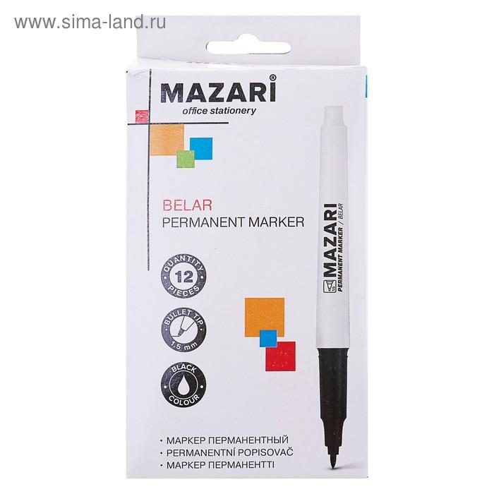 Маркер перманентный 1.5 мм MAZARI Belar М-5004 чёрный