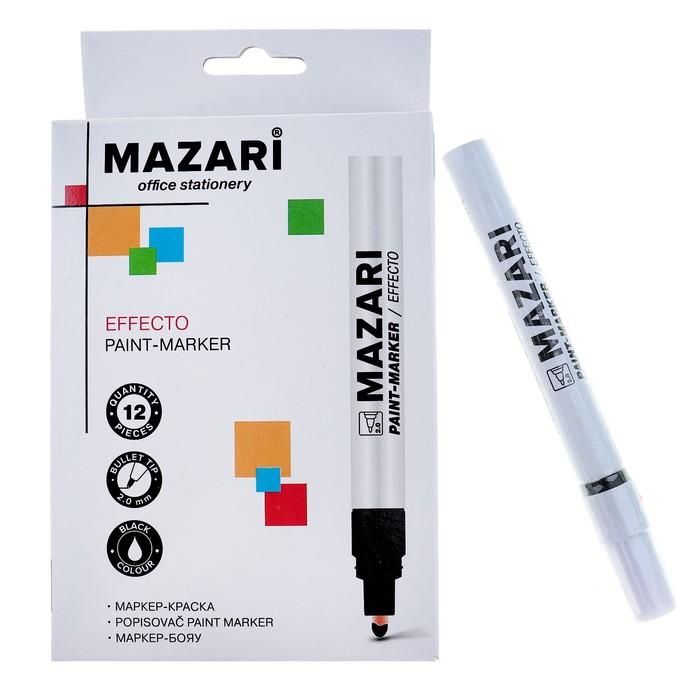 Маркер-краска (лаковый) 2.0 Effecto, чёрный, М-5008