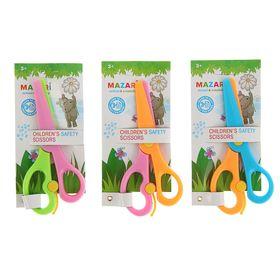 Ножницы детские 13,5 см, безопасные, пластиковые, с автоматическим механизмом, микс Ош