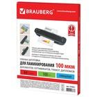Пленки для ламинирования 100 штук BRAUBERG А4, 100 мкм, глянцевая - Фото 2