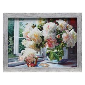 Гобеленовая картина 'Георгины на окне' 34*43 см Ош