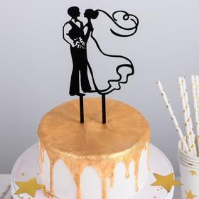 Топпер на торт, 12×12 см, цвет чёрный