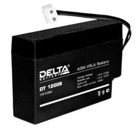 Аккумуляторная батарея Delta DT12008, 12 В, 0.8 А/ч Ош